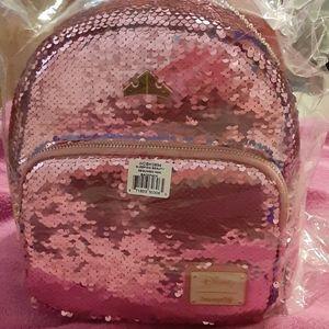 NWT Disney Loungefly Princess Sequin Mini Backpack